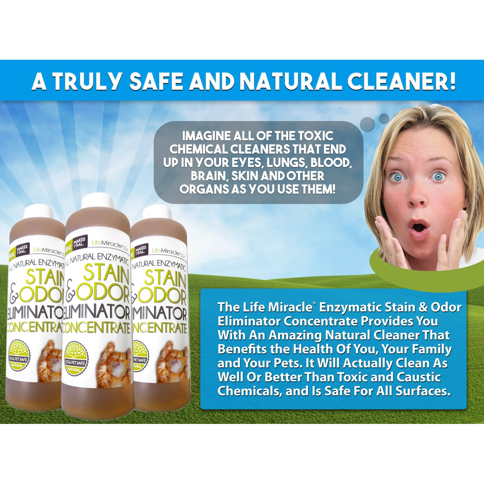Life Miracle Natural Enzyme Cleaner Life Miracle Health